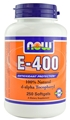 NOW Vitamin E 400 IU,  250 gels, d-alpha tocopheryl