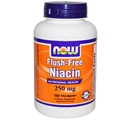 NOW Flush-Free Niacin, 250mg, 180 Vcaps