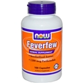 NOW Feverfew, 400mg, 100caps