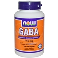 NOW GABA, 750mg, 100Vcaps