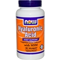 NOW Hyaluronic Acid, 50mg, 120 Vcaps, with MSM