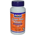 NOW Ginger Root Extract, 250mg, 90 Vcaps