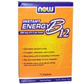 NOW Instant Energy B-12, 75 Packets per box