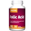 Jarrow Formulas Folic Acid, 800mcg, 100 caps