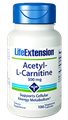 Life Extension Acetyl-L Carnitine, 500mg, 100 caps