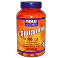 NOW L-Glutamine, 1500mg, 180 tabs