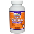 NOW Liquid Multi Gels 180gels, with 800mg Flax