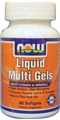 NOW Liquid Multi Gels 60gels, with 800mg Flax