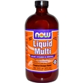 NOW Liquid Multi, 16oz, Orange