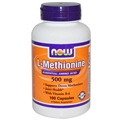 NOW L-Methionine, 500mg plus B6 10mg, 100caps
