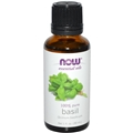 NOW Basil Oil, 1oz, 100% Pure