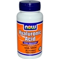 NOW Hyaluronic Acid, 50mg, 60 Vcaps, with MSM