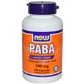 NOW PABA, 500mg, 100 caps