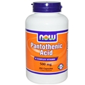 NOW Pantothenic Acid, 500mg, 250 caps