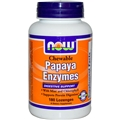 NOW Papaya Enzyme, Chewable, 180tabs
