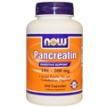 NOW Pancreatin, 10X-200mg, 250caps