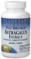Planetary Herbals Astragalus extract, Full Spectrum, 500mg, 120 tabs
