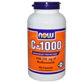 NOW C-1000 Caps, 250 caps with 100mg Bioflavonoids