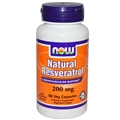 NOW Resveratrol, 200 mg - 60 Vcaps