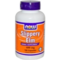 NOW Slippery Elm, 400mg, 100 caps