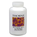 THORNE RESEARCH   Betaine HCl & Pepsin  225 Vcaps