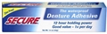 Secure  Denture Adhesive Cream Zinc Free  1.4 oz