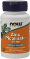 NOW Zinc Picolinate, 50mg, 60caps