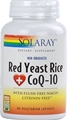 Solaray Red Yeast Rice Plus COQ10, 90 Vcaps