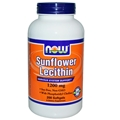 NOW Sunflower Lecithin, 1200mg, 200 gels