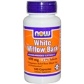 NOW White Willow Bark, 400mg, 100 caps
