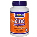 NOW Zinc Gluconate, 50mg, 250 tabs