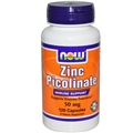 NOW Zinc Picolinate, 50mg, 120caps