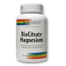 Solaray BioCitrate Magnesium, 400mg, 90 caps