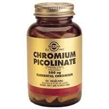 Solgar Chromium Picolinate, 500mcg, 120 Vcaps
