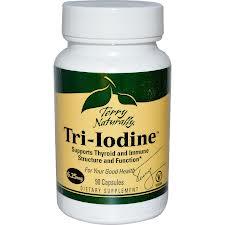 EuroPharma Tri-Iodine, 25mg, 60 Capsules