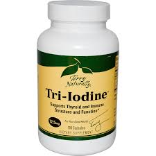 EuroPharma Tri-Iodine, 12.5 mg, 180 Capsules