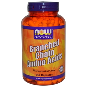 NOW Branch-Chain Amino Acids, 800mg, 240 Capsules