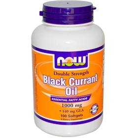 NOW Black Currant Oil, 1000 mg, 100 Softgels