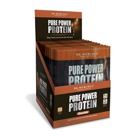 Dr. Mercola  Pure Power Protein Single Serve Chocolate  14 Servings