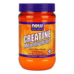 NOW Creatine Monohydrate Pure Powder, 21.2 oz.