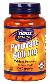 Now - Pyruvate 600 mg Capsules