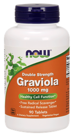 Now - 90 Tablets -  Graviola 1000 mg, Double Strength