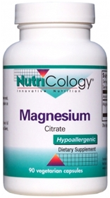 Nutricology  Magnesium Citrate  180 Vcaps