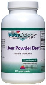 Nutricology  Liver Beef Natural Glandular  125 Caps