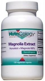 Nutricology  Magnolia Extract  120 Vegetarian Caps