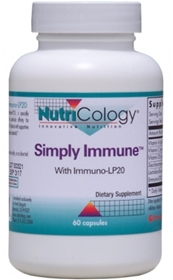 Nutricology  Simply Immune™ With Immuno-LP20™  60 Capsules