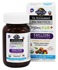 Dr. Formulate Organic Kid's Probiotic, 30 chewables