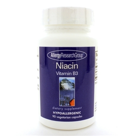 Allergy Research  Niacin Vitamin B3  90 Caps