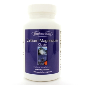 Allergy Research  Calcium/Magnesium Citrate  100 Caps