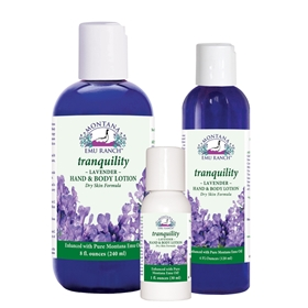 Montana Emu Ranch  Tranquility Lotion  4  oz